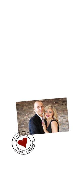 Trouwkaart,  wij gaan trouwen met foto en kalender 2