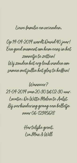 Uitnodiging feest tag A RB 3