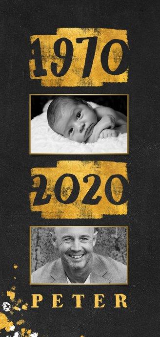 Uitnodiging goudlook 1970/2020 met foto 2