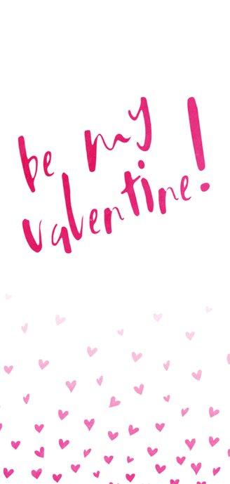 Valentijnskaart Be my valentine met hartjes 2