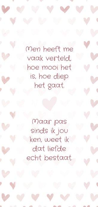 Valentijnskaart 'gek op jou' met geïllustreerde hartjes 3