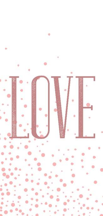 Valentijnskaart Love met foto en stippen 2