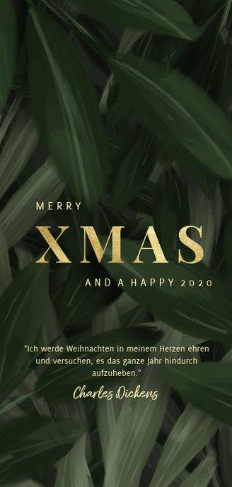 Weihnachtskarte botanisch mit Foto Rückseite