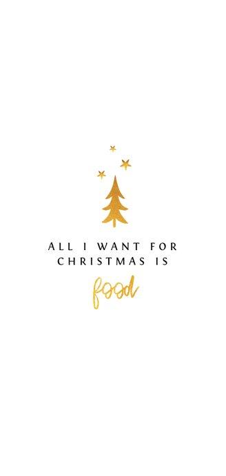 Weihnachtsmenükarte Goldener Baum Rückseite