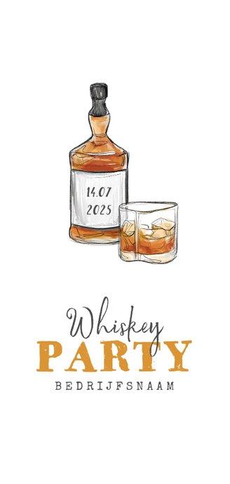 Whiskey kaart proeverij feest drankenkaart Achterkant
