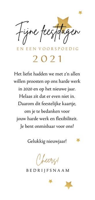 Zakelijke nieuwjaarskaart medewerkers hello 2021 bedankt 3
