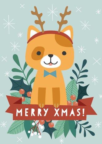 Weihnachtskarten Mit Eigenem Bild.Weihnachtskarte Mit Lustiger Katze Und Eigenem Foto