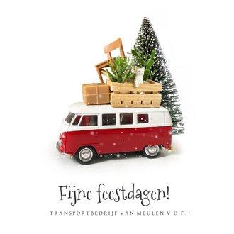 zakelijke kerstkaart met volkswagenbusje | kaartje2go