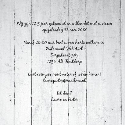 1,25 jaar getrouwd uitnodiging met hout look 3