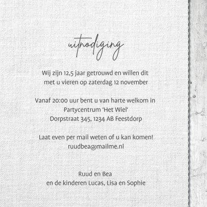 12,5 jaar getrouwd uitnodiging hout linnen print 3