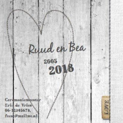 12,5 jaar getrouwd - vergrijsdhout print 2