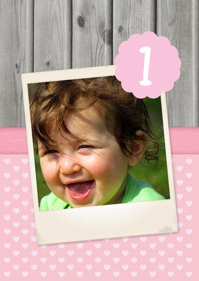 12 Maanden kaart meisje hout 2