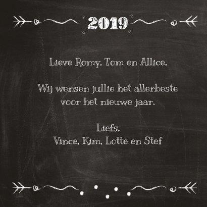 2019 op schoolbord met champagne 3