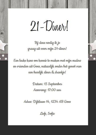 Verbazingwekkend 21-diner Uitnodiging Polaroids - Uitnodigingen | Kaartje2go NS-21