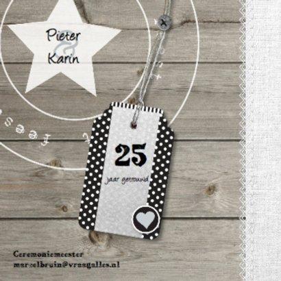 25 jarig foto huwelijksjubileum hout design 2
