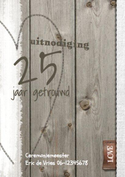 25 jarig jubileum huwelijk - hout linnen 2