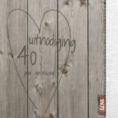 25 jarige jubileumkaart hout en linnen 2