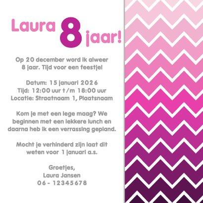3hoek feestje roze - DH 3