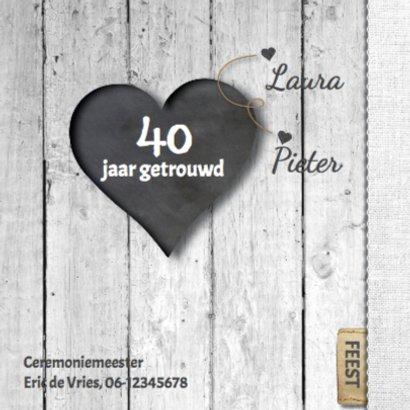 40 jarig huwelijks jubileumkaart - hart 2