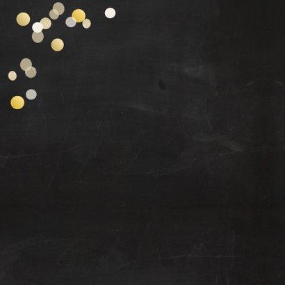 Verjaardag 50 goudlook met confetti 2