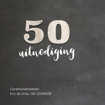 50 jaar getrouwd - krijtbord look en hout cijfers 2
