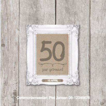 50 jaar huwelijk fotolijstjes 2