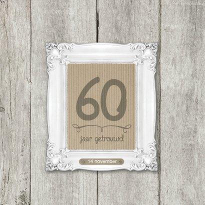 60 JAAR jubileumkaart 2