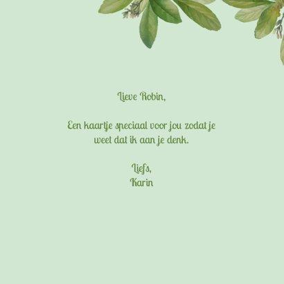 A big hug - botanische liefdekaart 3
