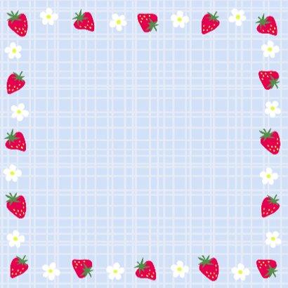 Aardbeien op een blauw ruitje 3