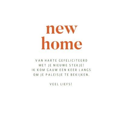 Abstract felicitatiekaartje New Home 3