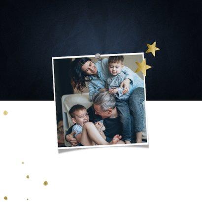 Adreswijziging kerstkaart met sterren en papiertje 2