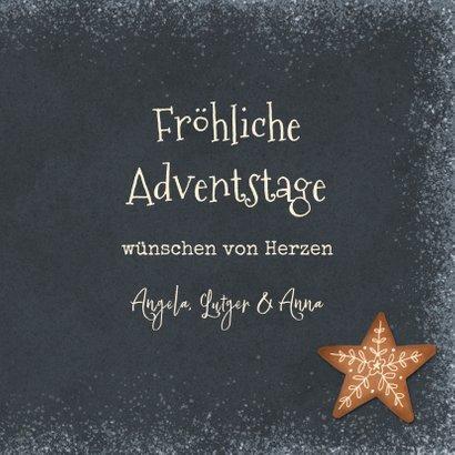 Adventsgrußkarte mit Weihnachtsgebäck 3