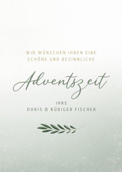 Adventskarte christlich vier Kerzen 3