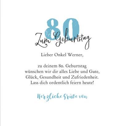'Alles Gute' Glückwunschkarte Geburtstag 3
