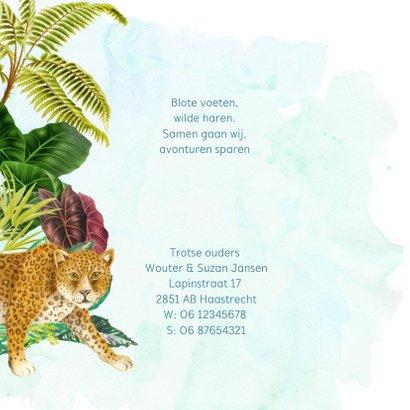 Avontuurlijk jungle geboortekaartje met panter 2