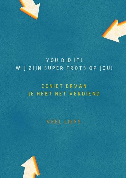 Awesome you did it! hippe kleurrijke felicitatie kaart  3