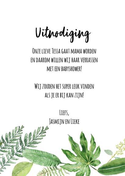 Babyshower uitnodiging | Botanisch 3