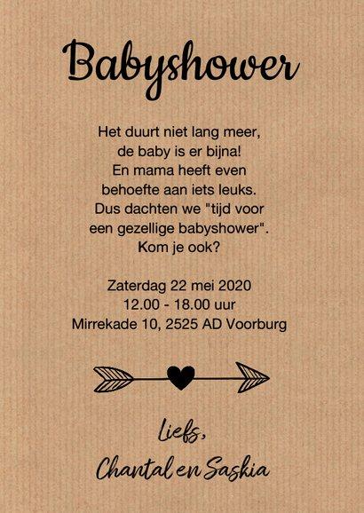 Babyshower uitnodiging ooievaar mint 3
