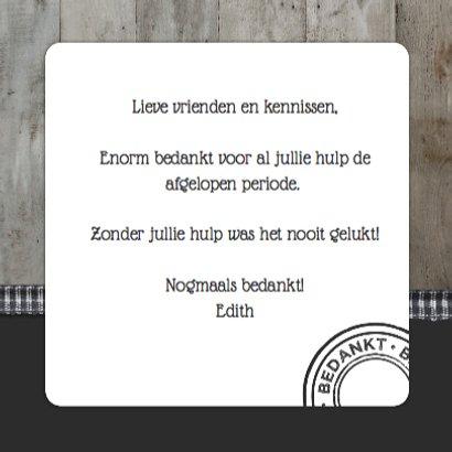 Bedank kaartje Steigerhout Strik 3