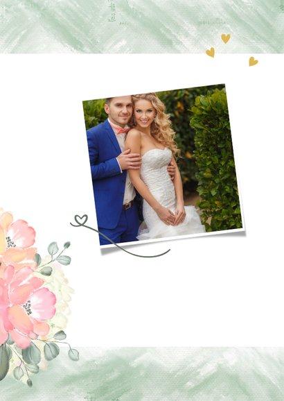 Bedankkaart boeket rozen 2