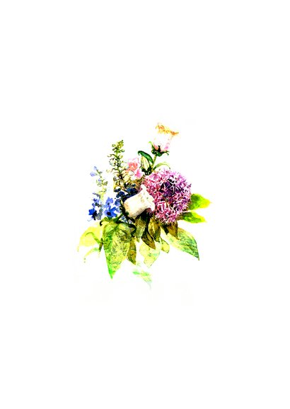 Bedankkaart, Bos bloemen  2