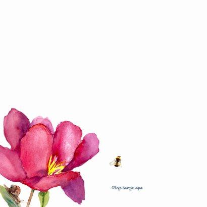 Bedankkaart Grote fleurige bloemen 2
