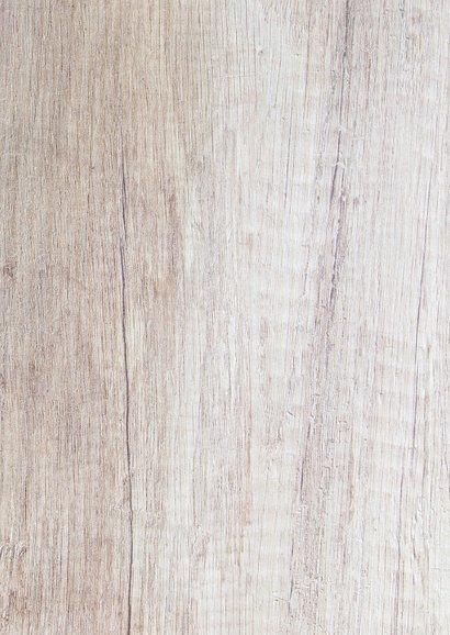 Bedankkaart hout met foto's en spijkers Achterkant