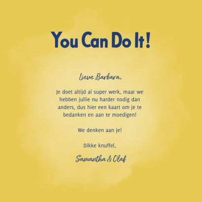 Bedankkaart hulpverlener You Can Do It! 3