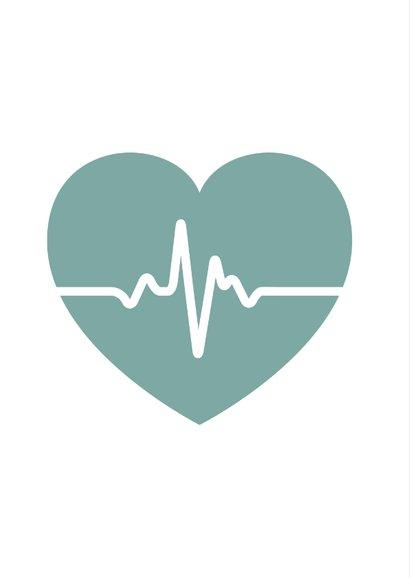 Bedankkaart hulpverleners bewondering en respect hartfilmpje 2