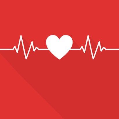 Bedankkaart hulpverleners hart met hartritme  2