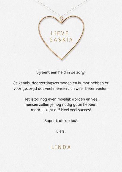 Bedankkaart jij hebt een hart van goud typografie hart 3