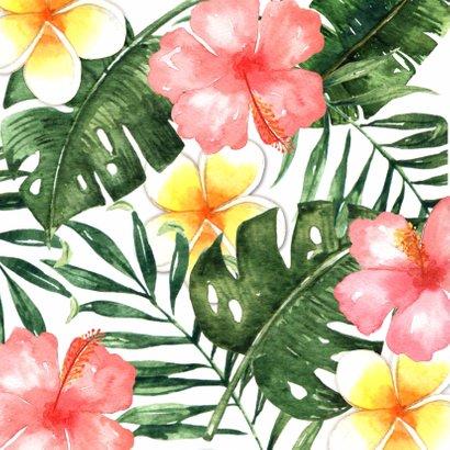Bedankkaart Juf Tropical - WW 2