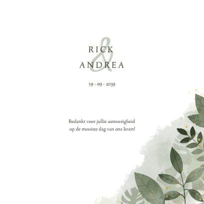Bedankkaart met botanische print, waterverf en spetters 3