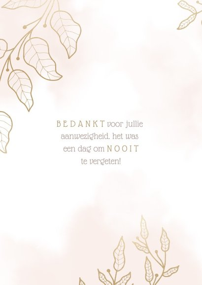 Bedankkaart met elegante bloemen en waterverf 2